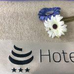 HOTEL SAVOIA.Asciugamano personalizzato 100% cot